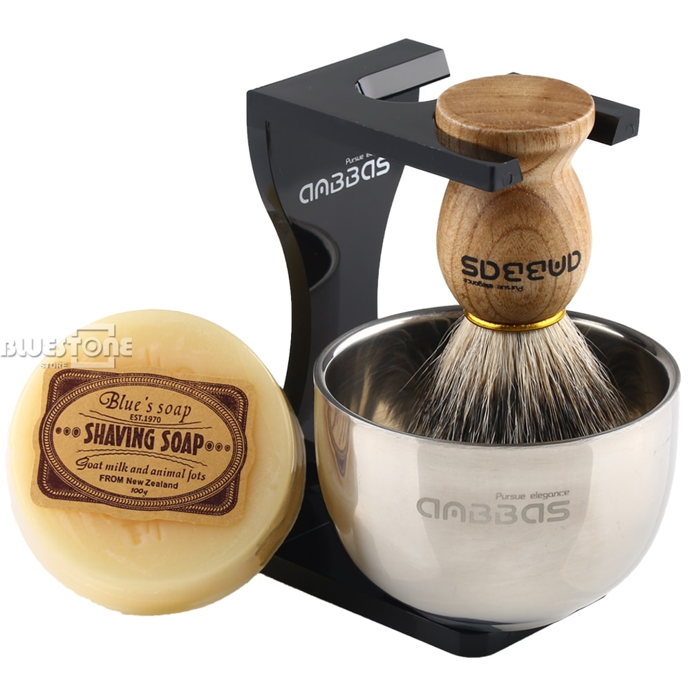 Shaving Brush with Stand and Soap